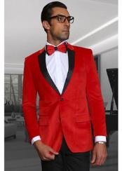 ID#TM14877 Discounted Christmas Red Best Inexpensive ~ Cheap ~ Discounted Blazer Suit Jacket For Affordable Cheap Priced Unique Fancy For Men Available Big Sizes on sale Men Velvet Fabric Sport coat Jacket Affordable Sport Coats Sale