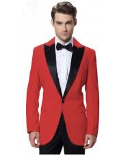 465ccc2c544a90 $89 Any Size Style Red And Black Tuxedo For Prom Suits Blazer Jacket