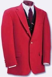 red pastel color suit