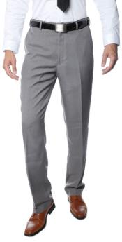 ID#RM1123 Premium crafted professionally Regular Fit Formal & Business Flat Front Dress Pants Grey