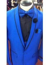 Blue  Shawl Lapel