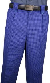 Royal Blue Plaid Wool