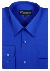 ID#AA475 Plain Basic Solid Plain Color Traditional Dress Groomsmen Shirts Royal Light Blue Perfect f