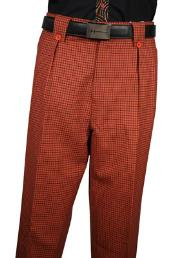 Rust Plaid Wool fabric