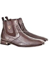 Sharkskin Chelsea Boots Brown