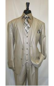 Mens Shiny Beige suit