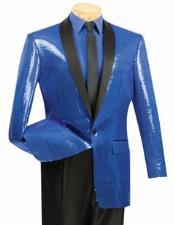 Sharkskin Metallic Sapphire Blue