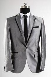 Sharkskin Black and Silver