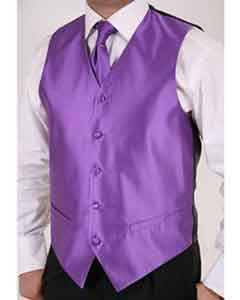 ID#GK7845 Purple pastel color 2-piece Groomsmen Wedding Wedding Vest ~ Waistcoat ~ Waist coat For Groom and Groomsmen For Groom and Groomsmen Combo Groomsmen Ties