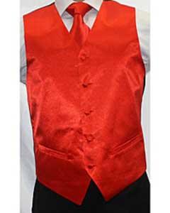 red Groomsmen Vest ~