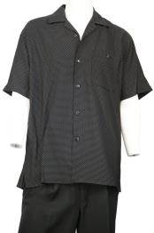 Dot Short Sleeve Button