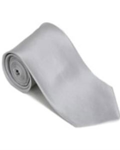 ID#FD423 Silver Silk Basic Solid Groomsmen Vest Plain Necktie With Handkerchief Groomsmen Ties