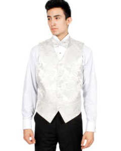 Paisley 4-Piece Wedding Vest