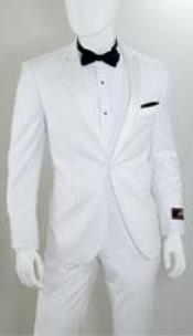 ID#AP33K Single Buttons Inexpensive ~ Cheap ~ Discounted Clearance Sale Extra Slim Fit Prom Peak Collared All Off White Prom ~ Wedding Groomsmen Tuxedo Wedding Suit For Groom For Sale for Men