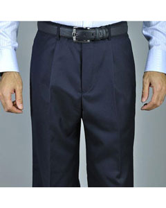 ID#KA8885 navy blue colored Single Pleated Pants