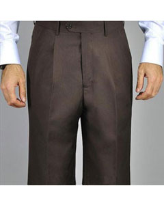 Chocolate brown Single Pleated