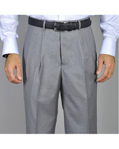 Grey Single Pleated Pants