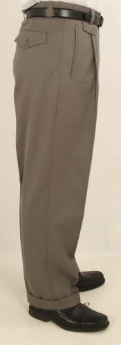Pleated creased Pants Greenish