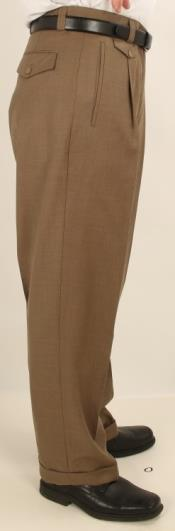 Pleated creased Pants Taupe