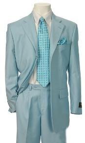 Mens Blue Color Suit
