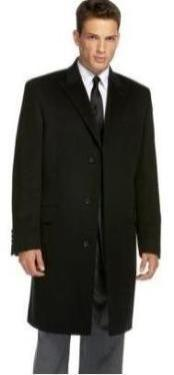 ID#Coat777 Dark color black Slim overcoats for men that offers a sleek, modern style