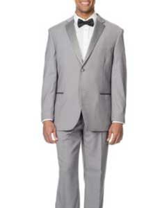 Slim Fit Light Grey Suit