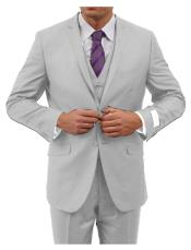 Tapered Leg Lower rise Pants & Inexpensive ~ Cheap ~ Discounted Clearance Sale Prom Two Button Three Piece Notch Collared Euro Slim Fit pants Light-Grey Cheap Priced Fitted Tapered cut Extra Slim Fit Suit