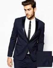 ID#ET50C Slim Fit tux coats Midnight blue Navy