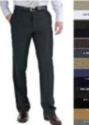 ID#BHR724 Stunning Flat Front Tapered Slim Cut Fitted Wool fabric Pleated Slacks