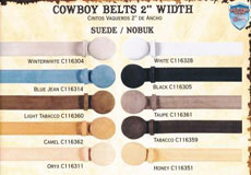 Suede/Nobuk western  Belts
