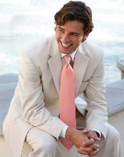 Mens Tan Color Wedding Suit