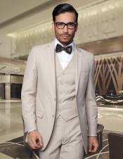 ID#PNN1 Tapered Leg Lower rise Pants Inexpensive ~ Cheap ~ Discounted Clearance Cheap Priced Fitted Tapered cut Sale Extra Slim Fit Prom & Fitted Skinny Narrow Collared For Superior fabric 150's Wool Tan Wedding / Prom ~ Beige Suit