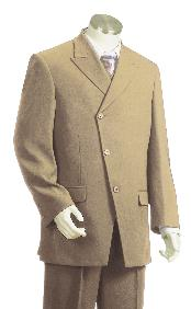 3 Piece Vested Taupe