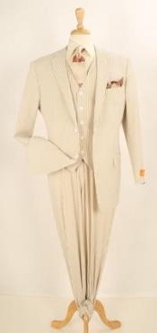 Mens Taupe Summer Suit