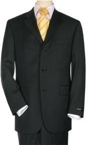 ID#3BS03 Three buttons Suit Jet Dark color black crafted professionally italian fabric Superior fabric 150's Wool fabric