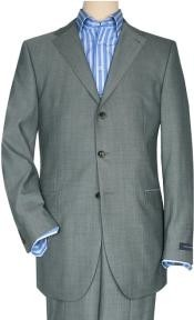 Mens Three Button Gray Suit