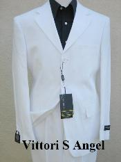 ID# IHY926 crafted professionally italian fabric Vittori Angel OFF WHITE Wedding Suits For Men For Sale