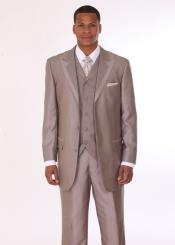 Beige Button Suit
