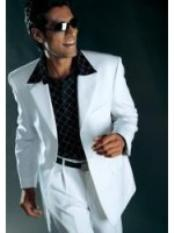 ID#GY7390 Man Made Fiber High Twist Three buttons Suit Off White Wedding Suits For Men For Sale