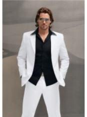 ID#HU6525 High End Italian Made Superior fabric 150's Wool fabric Suit White & Off White Wedding Suits For Men For Sale