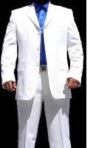 ID#HY7629 Three buttons White & Off White Wedding Suits For Men For Sale