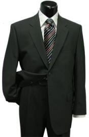 Mens Two Button Black Suit