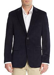 ID#RA12 Two Button Front Regular Fit Corduroy Best Cheap Blazer For  Affordable Cheap Priced Unique Fancy For Men Available Big Sizes on sale Men Affordable Sport Coats Sale Jacket Navy