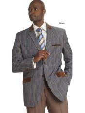 2 Button Windowpane Plaid
