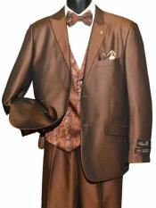 2 Button  Brown