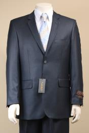 ID#9J7D Two buttons Textured Mini Weave Patterned Shiny Sharkskin Navy Suit