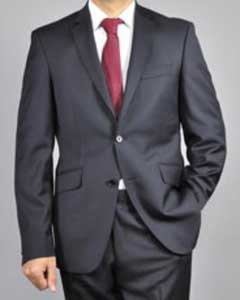 ID#V7AS0 Authentic Mantoni Brand Two buttons Wool fabric Suit Dark color Black Wedding / Prom