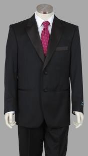 ID#ADA65 Enrico Brindisi Italian Style 2 Btn Superior fabric 150 Wool fabric Tuxedo Pleated creased Pants Dark color black
