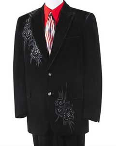 Two buttons Tuxedo Trimmed