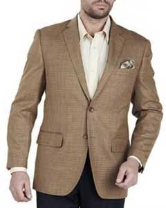 ID#AA360 Authentic Mantoni Brand Basic Solid Plain Two buttons Wool fabric Best Cheap Blazer For Affordable Cheap Priced Unique Fancy For Men Available Big Sizes on sale Men Affordable Sport Coats Sale With brass buttons Jacket Camel Tweed